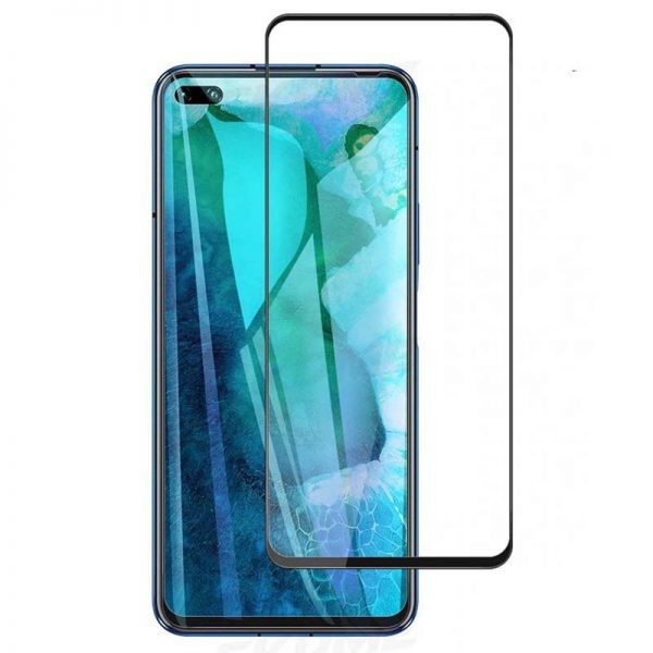 محافظ صفحه نمایش تمام چسب با پوشش کامل هواوی Full Glass Screen Protector For Huawei Honor V30 V30 Pro