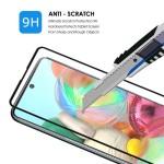 محافظ صفحه نمایش تمام چسب با پوشش کامل سامسونگ Full Glass Screen Protector For Samsung Galaxy A71
