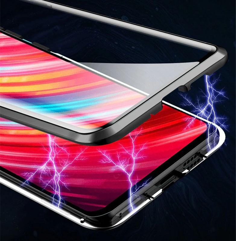 قاب محافظ مگنتی شیائومی Glass Magnetic 360 Case Xiaomi Redmi Note 8 Pro