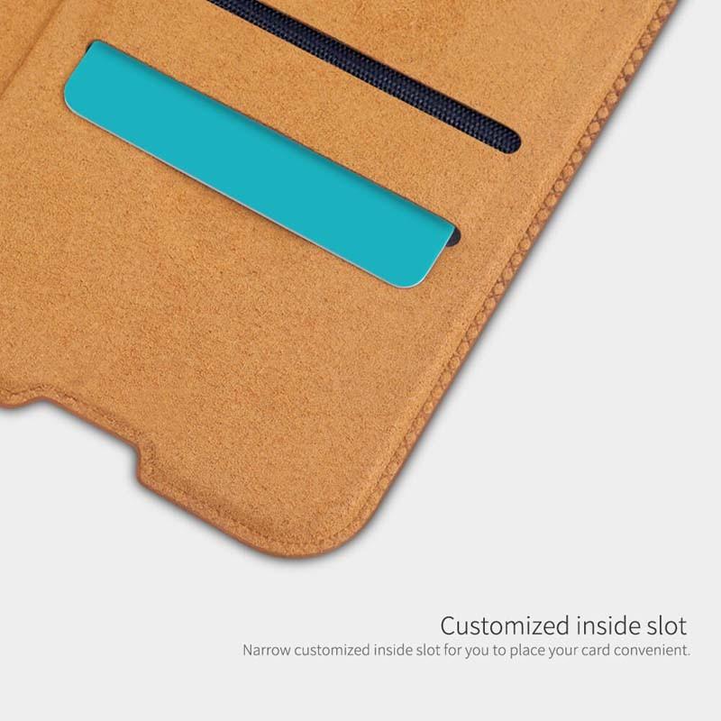کیف محافظ چرمی نیلکین سامسونگ Nillkin Qin Case For Samsung Galaxy A51