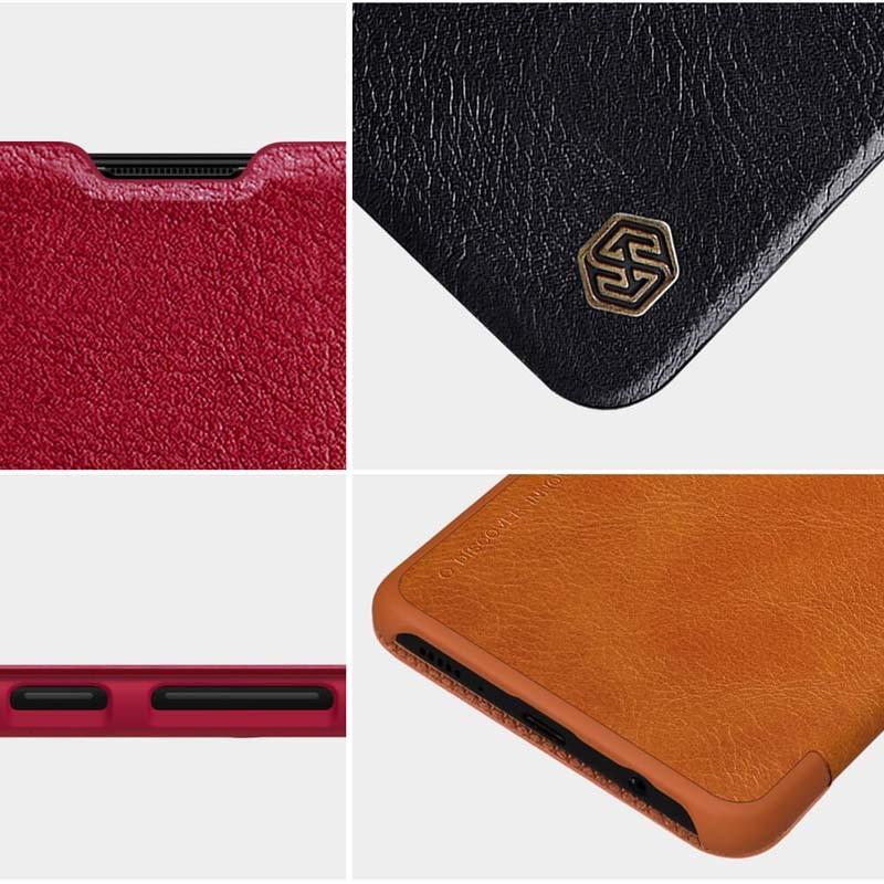 کیف محافظ چرمی نیلکین سامسونگ Nillkin Qin Case For Samsung Galaxy A71