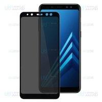 محافظ صفحه نمایش حریم شخصی تمام چسب با پوشش کامل سامسونگ Privacy Full Screen Protector For Samsung Galaxy A8 2018