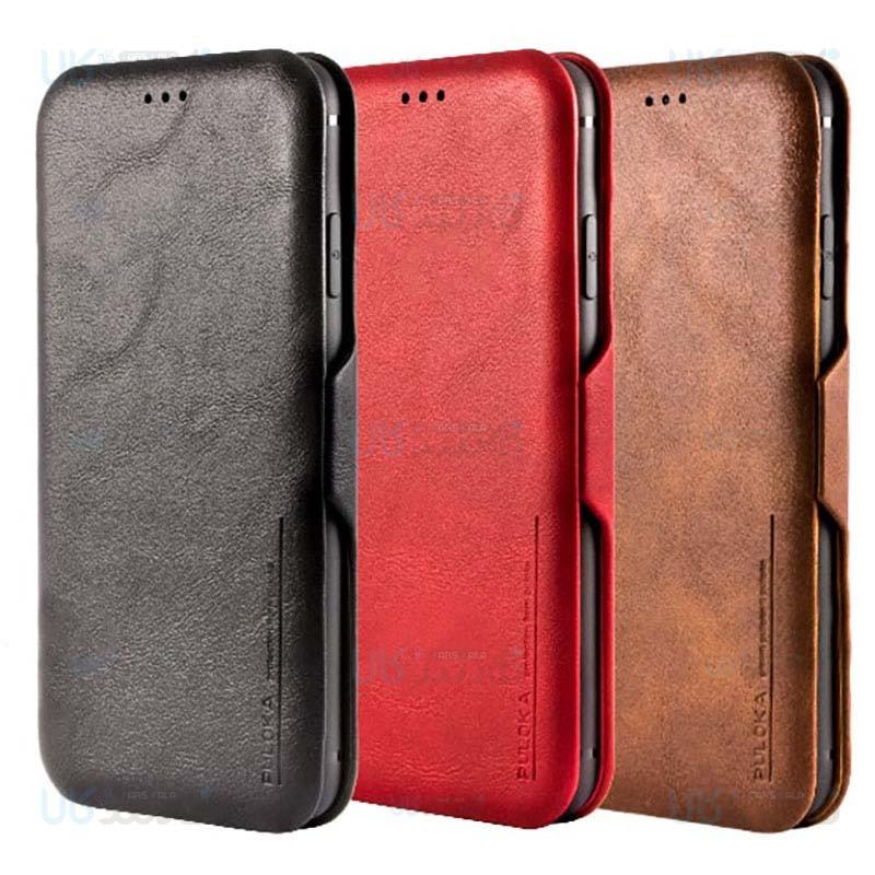 کیف محافظ چرمی پولوکا سامسونگ Puloka Leather Cover Case Samsung Galaxy S9 Plus