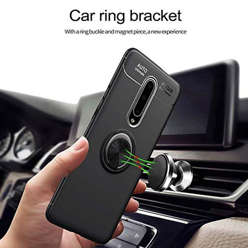 قاب ژله ای طرح چرم انگشتی وان پلاس Becation A.F Magnetic Ring For OnePlus 7 Pro