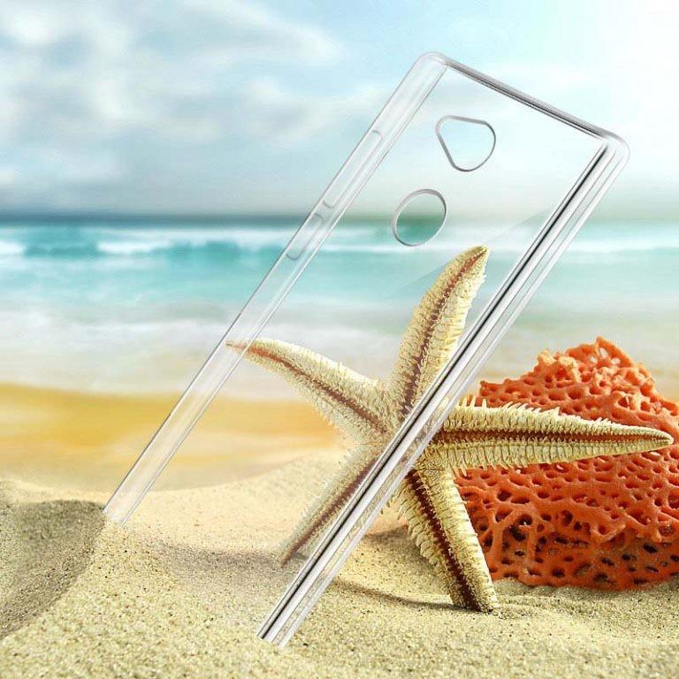 قاب محافظ کریستالی سونی Clear Crystal Cover For Sony Xperia L2