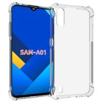 قاب محافظ ژله ای کپسول دار 5 گرمی سامسونگ Clear Tpu Air Rubber Jelly Case For Samsung Galaxy A01