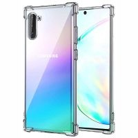 قاب محافظ ژله ای کپسول دار 5 گرمی سامسونگ Clear Tpu Air Rubber Jelly Case For Samsung Galaxy Note 10