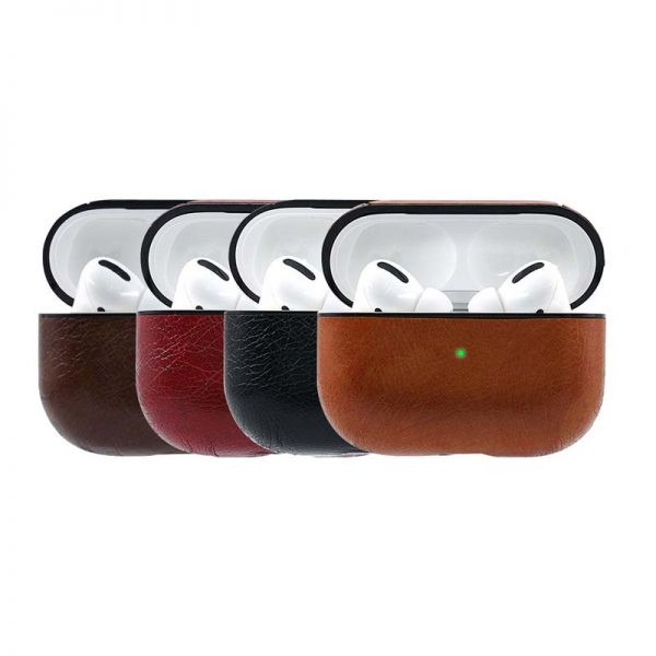 کاور چرمی ایرپاد پرو CoBlue Classic Retro Leather Case Airpods Pro