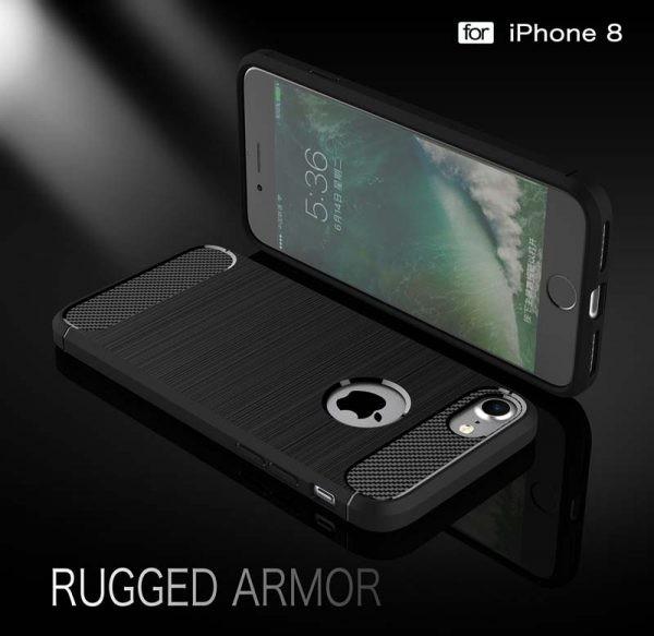 قاب محافظ ژله ای اپل Fiber Carbon Rugged Armor Case For Apple iPhone 7 8