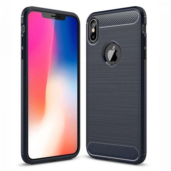 قاب محافظ ژله ای اپل Fiber Carbon Rugged Armor Case For Apple iPhone Xs Max
