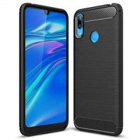 قاب محافظ ژله ای هواوی Fiber Carbon Rugged Armor Case For Huawei Y7 2019 Y7 Prime 2019