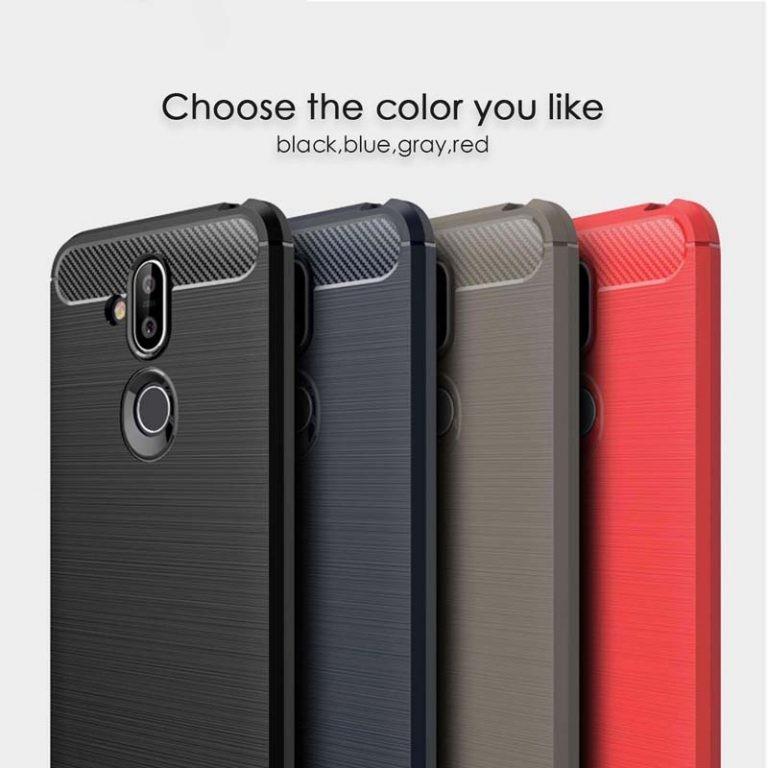 قاب محافظ ژله ای نوکیا Fiber Carbon Rugged Armor Case For Nokia 8.1 X7