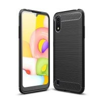 قاب محافظ ژله ای سامسونگ Fiber Carbon Rugged Armor Case For Samsung Galaxy A01