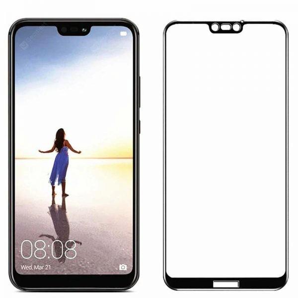 محافظ صفحه نمایش مات تمام چسب با پوشش کامل هواوی Full Matte Glass Screen Protector For Huawei P20 Lite Nova 3e