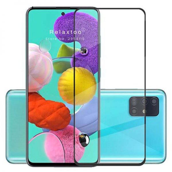 محافظ صفحه نمایش مات تمام چسب با پوشش کامل سامسونگ Full Matte Glass Screen Protector For Samsung Galaxy A51