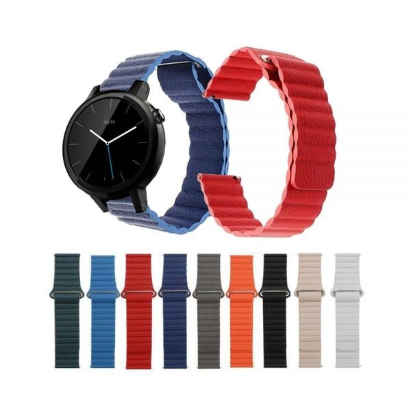بند چرمی ساعت هوشمند موتورولا موتو Moto 360 42mm مدل Leather Loop