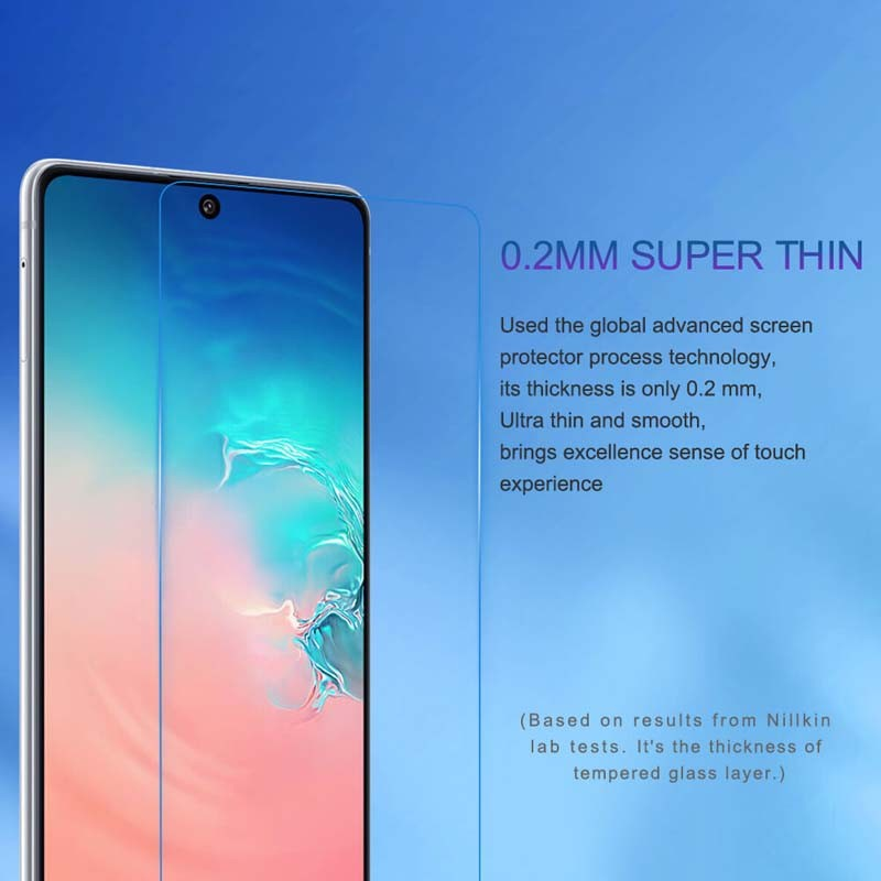 محافظ صفحه نمایش شیشه ای نیلکین سامسونگ Nillkin H+ Pro Glass Samsung Galaxy S10 Lite 2020