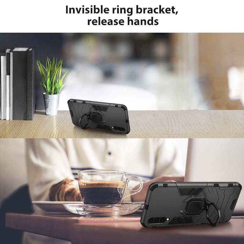 قاب محافظ انگشتی سامسونگ Ring Holder Iron Man Armor Case Samsung Galaxy A50s A50 A30s