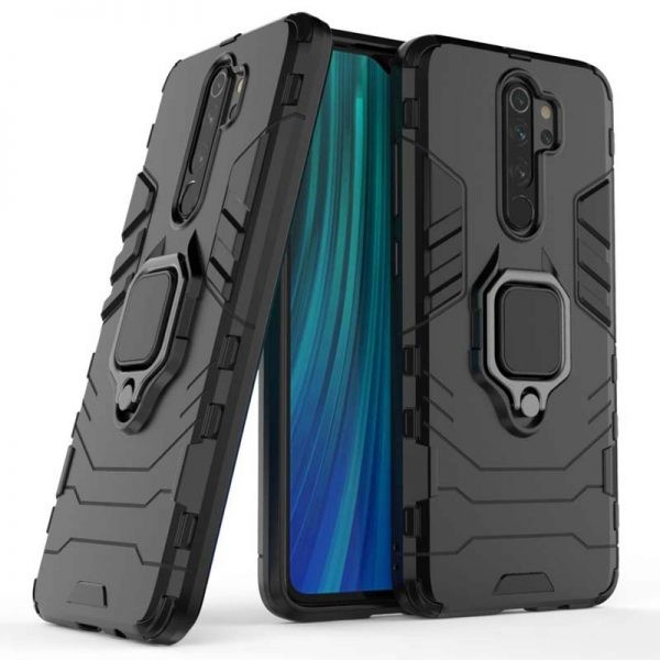 قاب محافظ انگشتی شیائومی Ring Holder Iron Man Armor Case Xiaomi Redmi Note 8 Pro