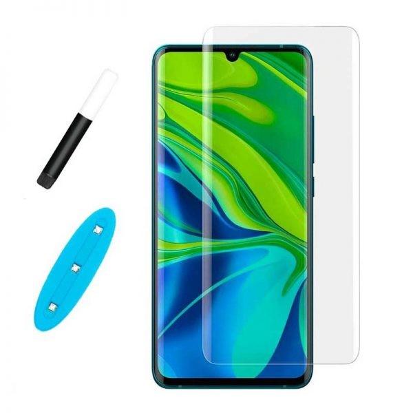 محافظ صفحه شیشه ای تمام صفحه و خمیده یو وی شیائومی UV Full Glass Screen Protector Xiaomi Mi CC9 Pro Mi Note 10 Mi Note 10 Pro