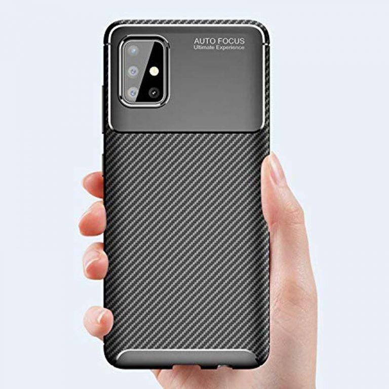 قاب فیبر کربنی سامسونگ AutoFocus Becation Beetle Case For Samsung Galaxy A51