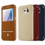 کیف محافظ کلاسوری بیسوس سامسونگ Baseus Terse Leather Case For Samsung Galaxy S6