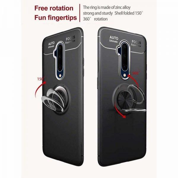 قاب ژله ای طرح چرم انگشتی وان پلاس Becation A.F Magnetic Ring For OnePlus 7T Pro