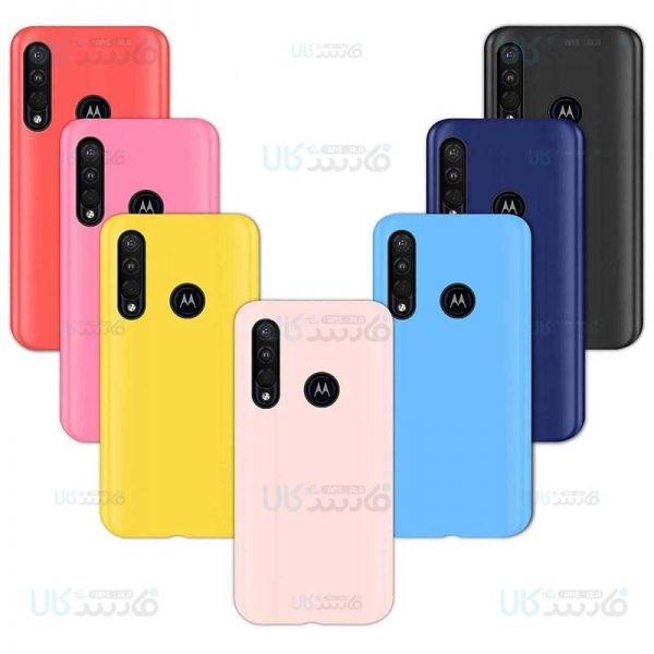 قاب محافظ ژله ای رنگی موتورولا Colorful Soft Jelly Case For Motorola One Action