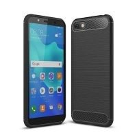 قاب محافظ ژله ای هواوی Fiber Carbon Rugged Armor Case For Huawei Y5 Prime 2018