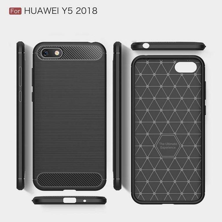 قاب محافظ ژله ای هواوی Fiber Carbon Rugged Armor Case For Huawei Y5 Prime 2018