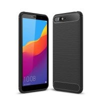 قاب محافظ ژله ای هواوی Fiber Carbon Rugged Armor Case For Huawei Y6 Prime 2018