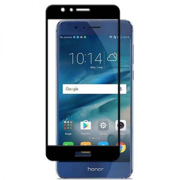 محافظ صفحه نمایش تمام چسب با پوشش کامل هواوی Full Glass Screen Protector For Huawei Honor 8