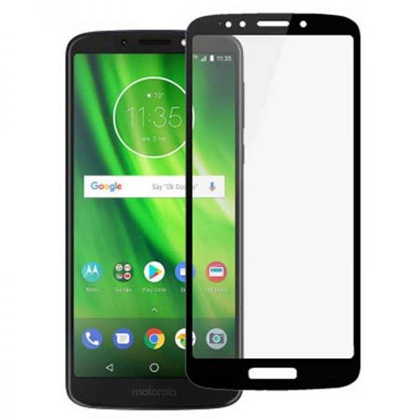 محافظ صفحه نمایش تمام چسب با پوشش کامل موتورولا Full Glass Screen Protector For Motorola Moto G6 Play