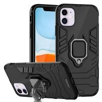 قاب محافظ انگشتی اپل Ring Holder Iron Man Armor Case Apple iPhone 11