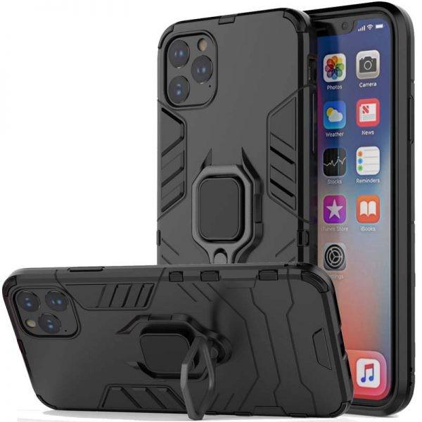 قاب محافظ انگشتی اپل Ring Holder Iron Man Armor Case Apple iPhone 11 Pro Max