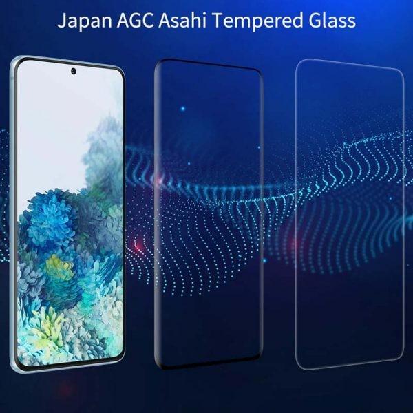 محافظ صفحه نمایش شیشه ای نیلکین سامسونگ Nillkin 3D DS+MAX Glass Samsung Galaxy S20 Plus