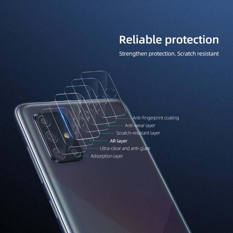 محافظ لنز دوربین نیلکین سامسونگ Nillkin InvisiFilm camera protector for Samsung Galaxy A71