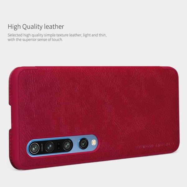 کیف محافظ چرمی نیلکین شیائومی Nillkin Qin Case For Xiaomi Mi 10 Mi 10 Pro