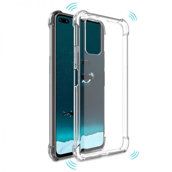 قاب محافظ ژله ای کپسول دار 5 گرمی هواوی Clear Tpu Air Rubber Jelly Case For Huawei Honor V30 / V30 Pro