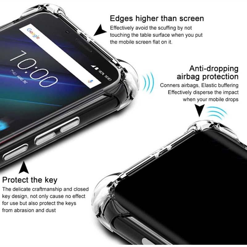 قاب محافظ ژله ای کپسول دار 5 گرمی نوکیا Clear Tpu Air Rubber Jelly Case For Nokia 3.2