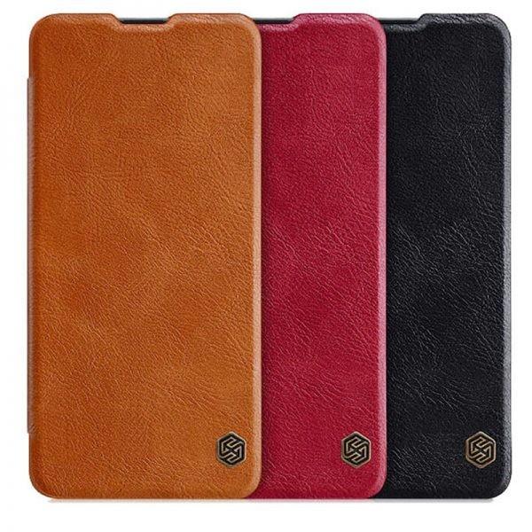 کیف محافظ چرمی نیلکین سامسونگ Nillkin Qin Case For Samsung Galaxy A41
