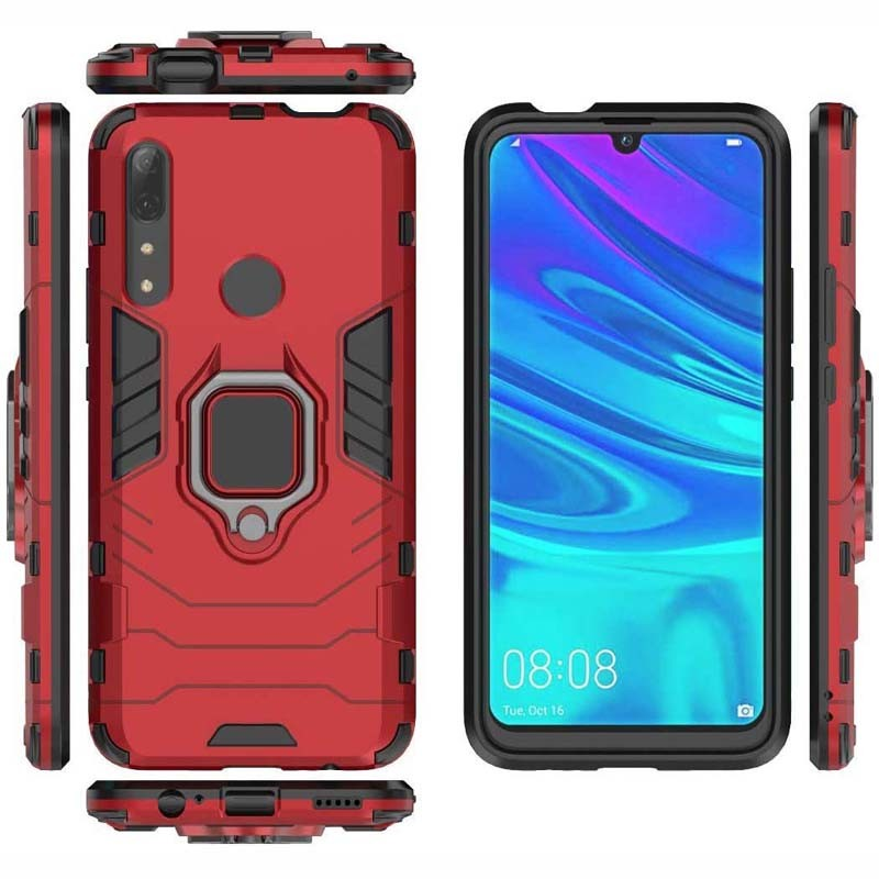 قاب محافظ ضد ضربه انگشتی هواوی Ring Holder Iron Man Armor Case Huawei P Smart Z 2019