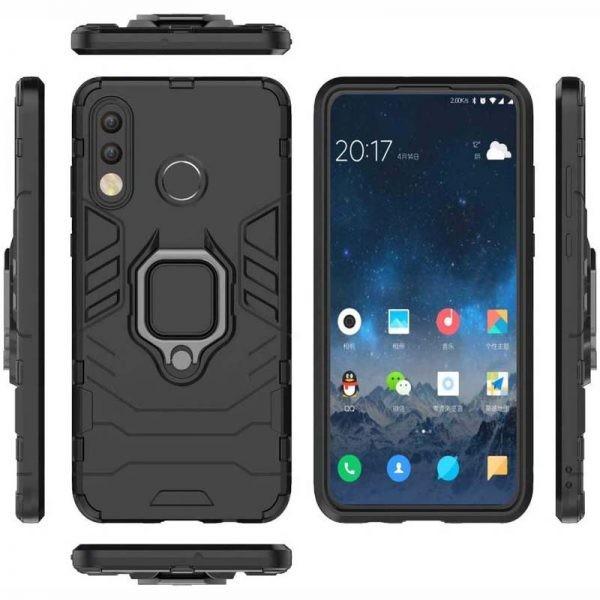 قاب محافظ ضد ضربه انگشتی هواوی Ring Holder Iron Man Armor Case Huawei P30 lite