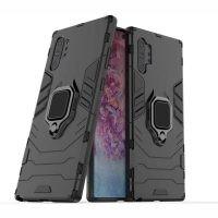 قاب محافظ ضد ضربه انگشتی سامسونگ Ring Holder Iron Man Armor Case Samsung Galaxy Note 10 Plus