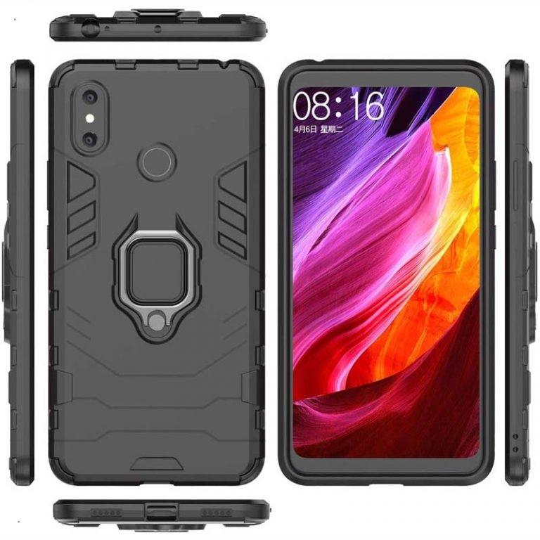 قاب محافظ ضد ضربه انگشتی شیائومی Ring Holder Iron Man Armor Case Xiaomi Mi Max 3