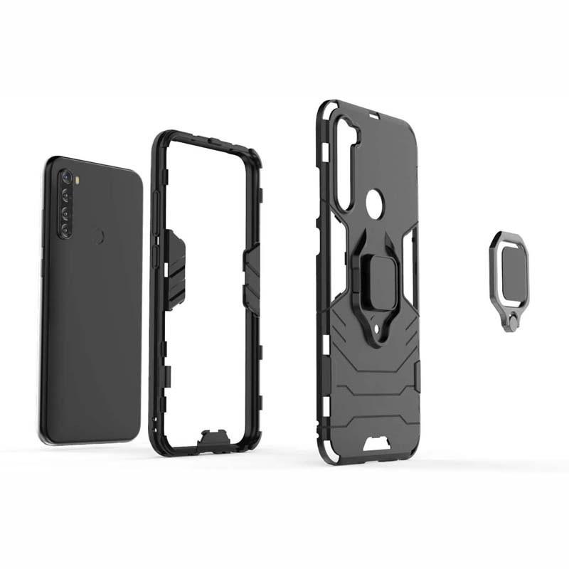 قاب محافظ ضد ضربه انگشتی شیائومی Ring Holder Iron Man Armor Case Xiaomi Redmi Note 8T