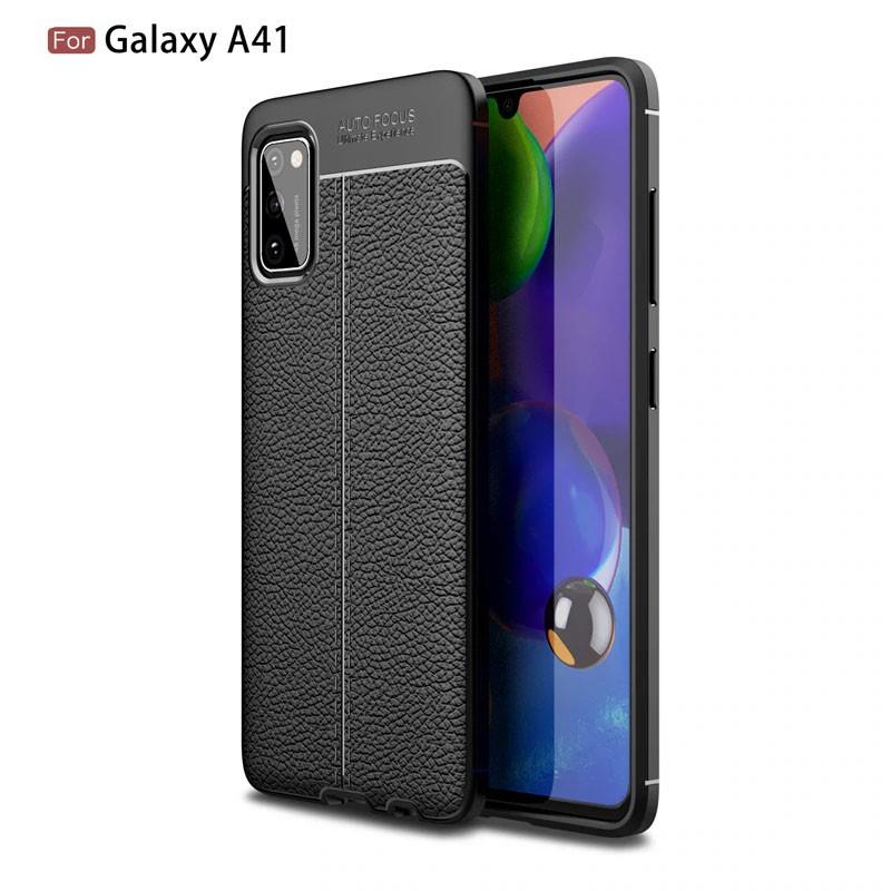 قاب ژله ای طرح چرم سامسونگ Auto Focus Jelly Case For Samsung Galaxy A41