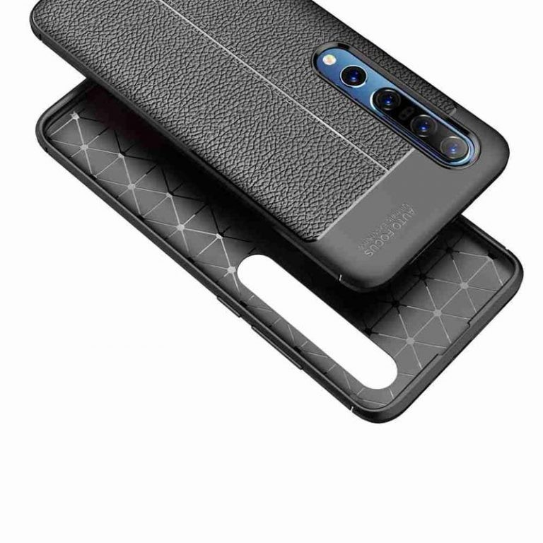 قاب ژله ای طرح چرم شیائومی Auto Focus Jelly Case For Xiaomi Mi 10 Mi 10 Pro