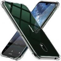 قاب محافظ ژله ای کپسول دار 5 گرمی نوکیا Clear Tpu Air Rubber Jelly Case For Nokia 2.2