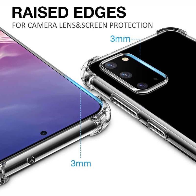 قاب محافظ ژله ای کپسول دار 5 گرمی سامسونگ Clear Tpu Air Rubber Jelly Case For Samsung Galaxy S20